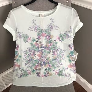 LC sheer blouse size S